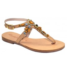 SANDALS 14K01KIA60222 LIGHT BROWN