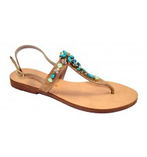 SANDALS 14K01KIA60225 LIGHT BROWN