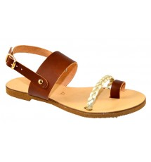 SANDALS 15K01GP24 TAUPE GOLD
