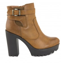 BOOTIES 17X01GP53427 CAMEL