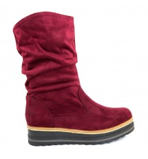 BOOTIES 17X01PL16K BORDEAUX