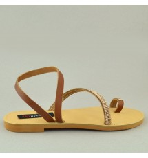 SANDALS 18K01ROD033 ΤAUPE